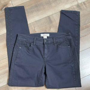 Sundance Embroidered Panel Lace Skinny Pants Sz 2
